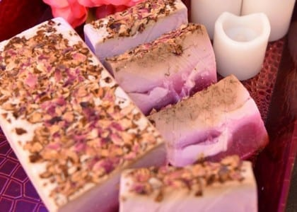 rose and lilac handmade soap
