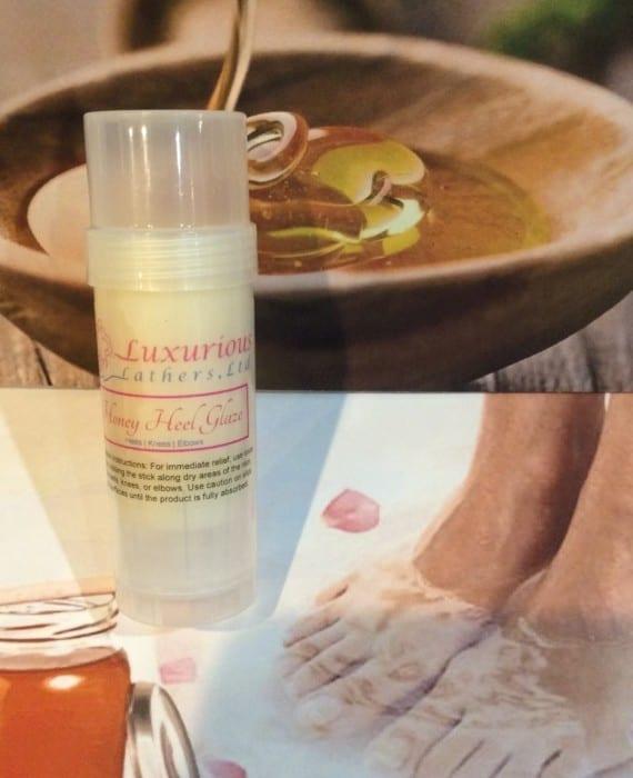 Honey Heel Glaze to Remove Excess Dry Skin