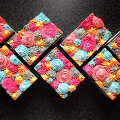 Neon Piped Soap Tart