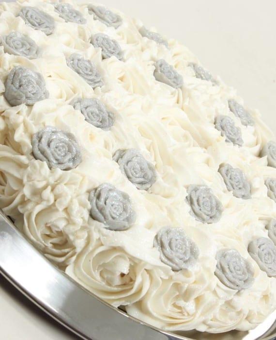 Silver Rose Soap Cake