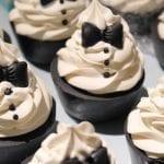 Sea of Black Tie Soap Cupcakes