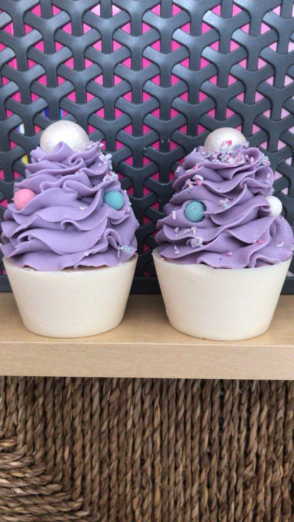 Lilac Sprinkles Cupcake