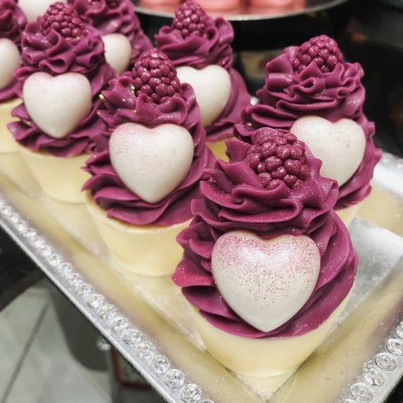 Plum Heart Cupcake Soap