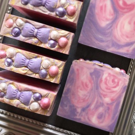 Pink & Purple Glitz Soap